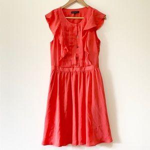 Banana Republic | salmon ruffle dress sleeveless 4